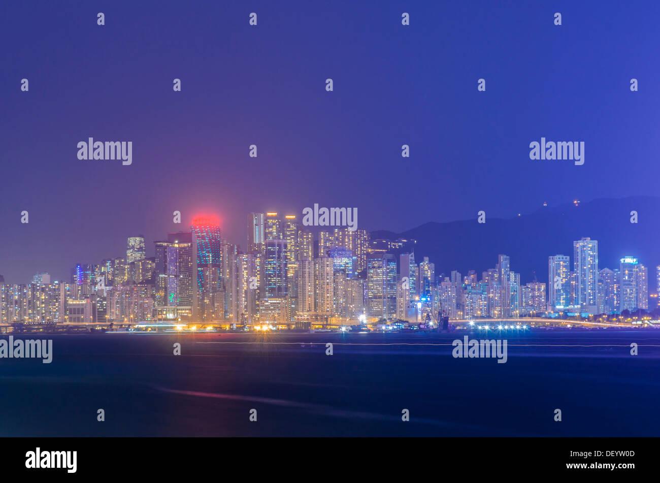 night of hongkong - Stock Image