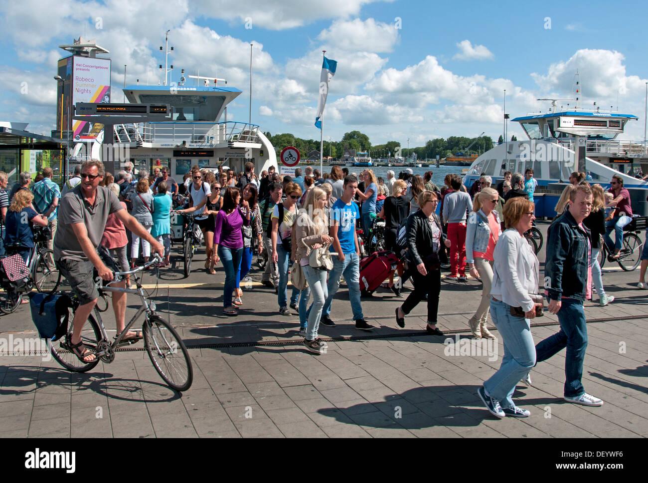 Netherlands bike bicycle store shelter Amsterdam - Stock Image