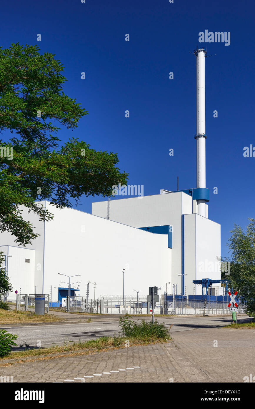 Switched off nuclear power plant Kruemmel in Geesthacht, Schleswig - Holstein, Germany, Europe, Abgeschaltetes Kernkraftwerk Stock Photo