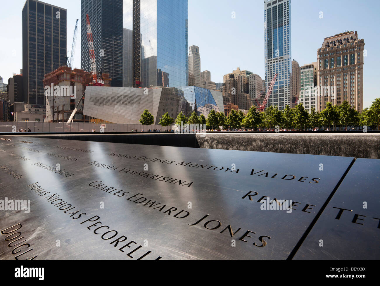 9 11 Memorial South Pool World Trade Center Site Downtown Stock