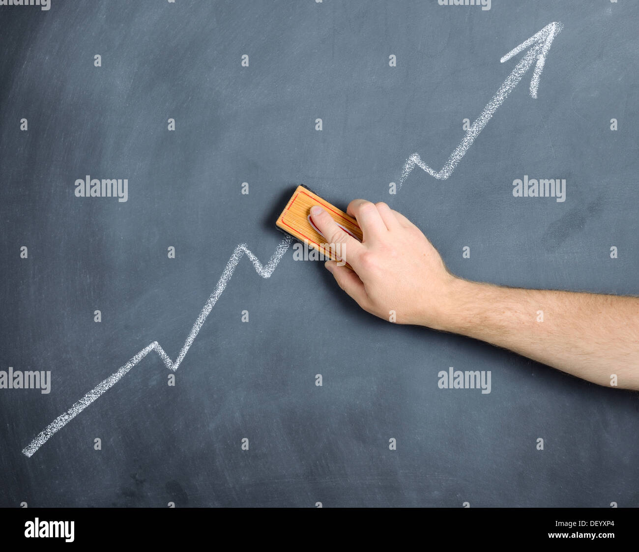 concept of profit or shares wiped out - Stock Image