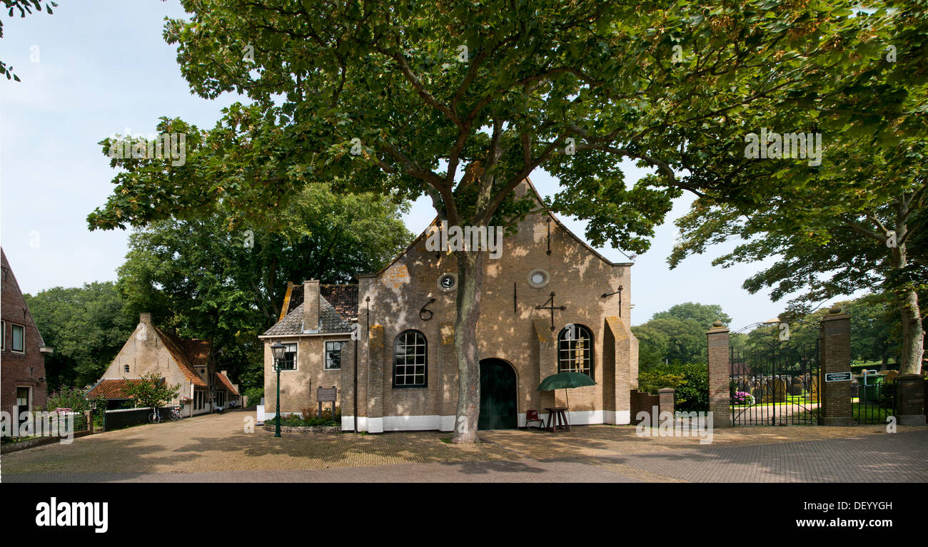 Dutch Reformed Church Vlieland Grave Netherlands - Stock Image