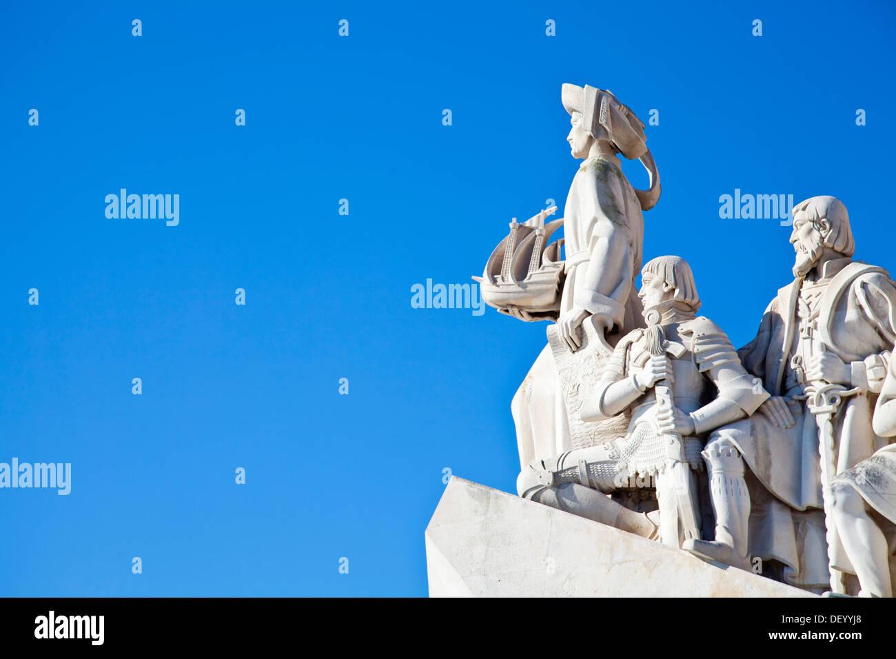 Padrão dos Descobrimentos, Monument to the Discoveries, celebrating Henri the Navigator and the Portuguese Age of Discovery and - Stock Image