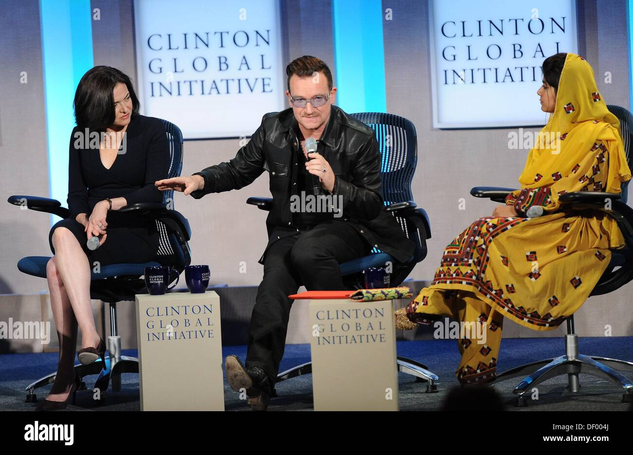 Bono in attendance for Clinton Global Initiative Annual Meeting - TUE, Sheraton New York Hotel and Towers, New York, Stock Photo