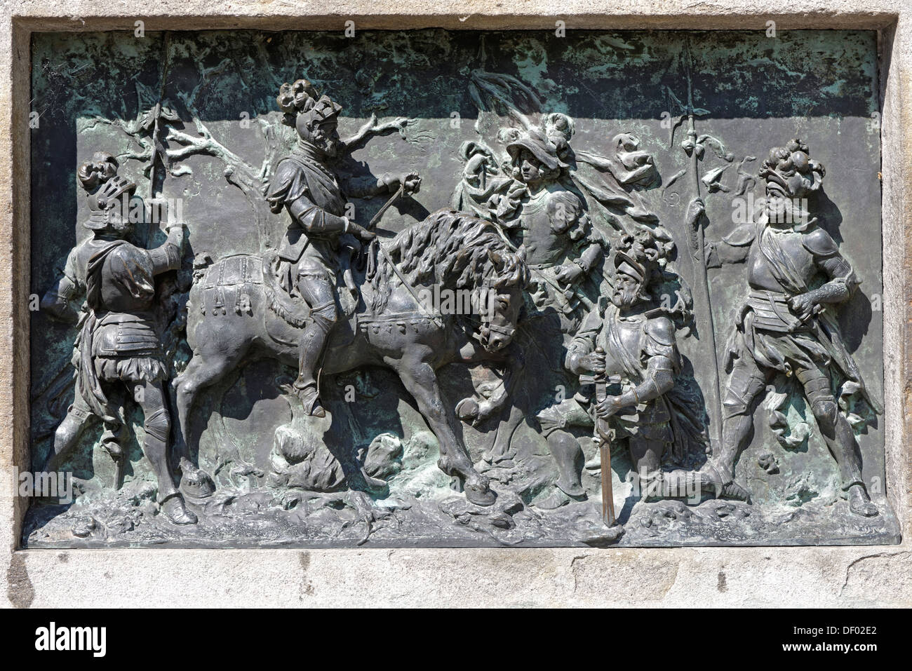 Winzerer memorial, Kaspar III. Winzerer, 1465-1542, caretaker, capture of the French king Francis I near Pavia, 1525 - Stock Image