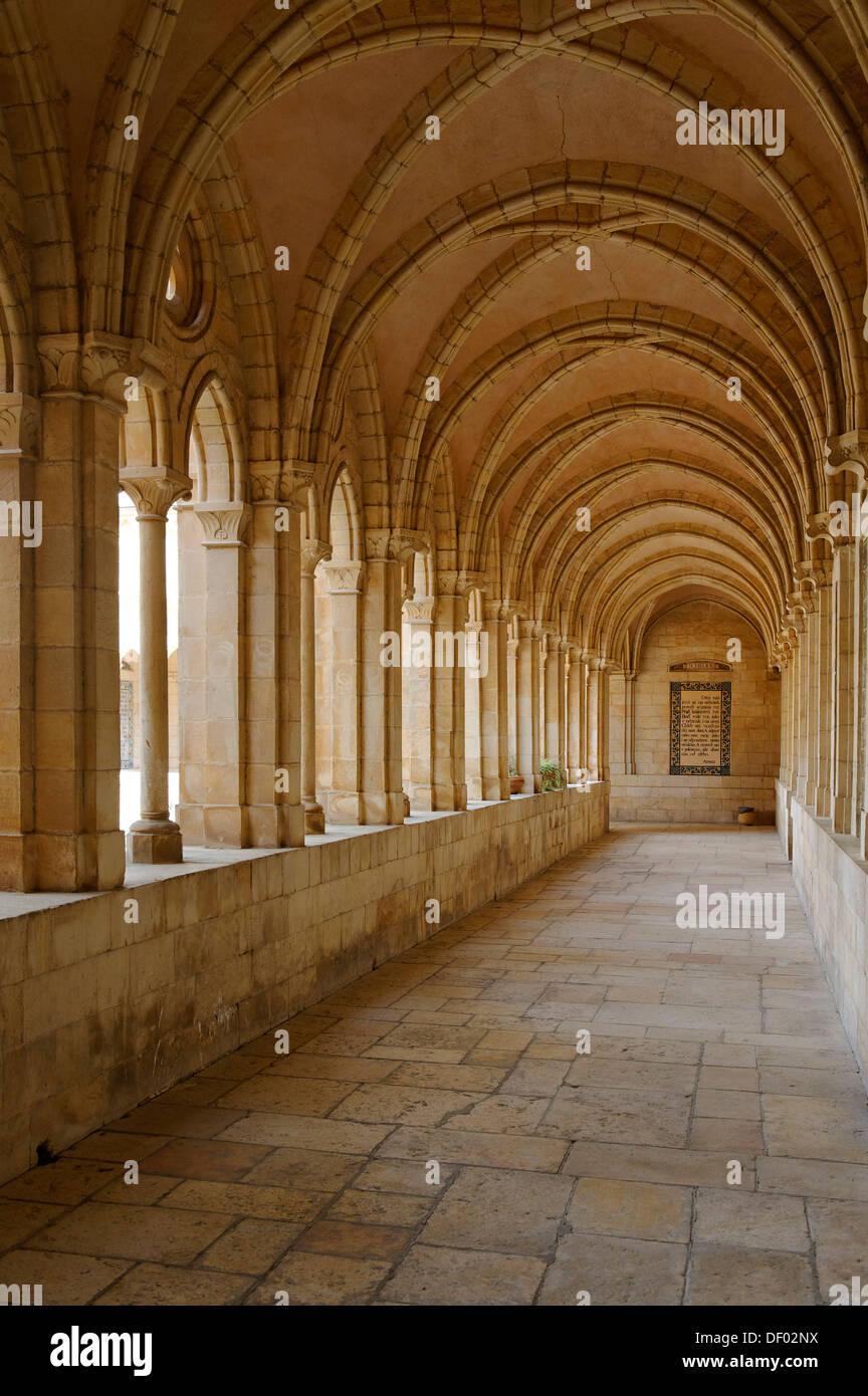 Cloister, Church of the Pater Noster or Sancturay of the Eleona, Mount of Olives, Jerusalem, Israel, Middle East, Asia - Stock Image
