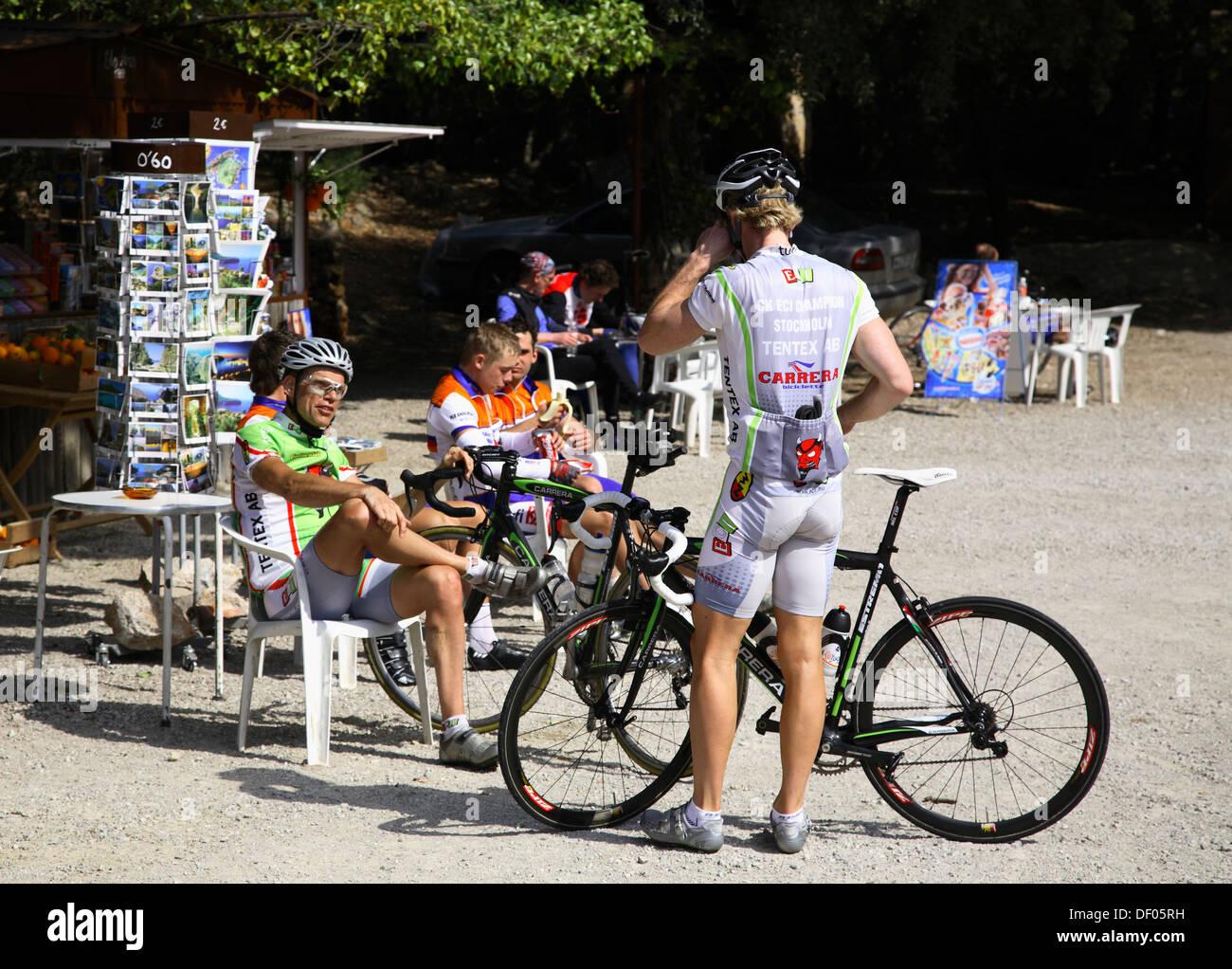 Biker  Mallorca, Balearic Islands, Spain - Stock Image