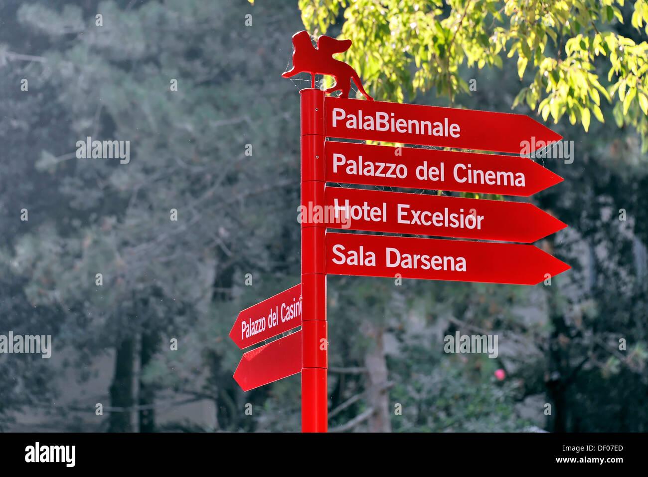 Signpost, Biennale di Venezia 2011, Venice, Veneto, Italy, Europe - Stock Image