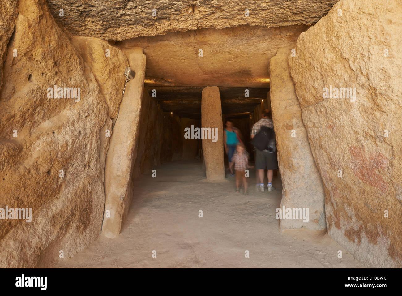 Dolmen of Menga, Menga Megalithic Dolmen, Antequera, Málaga province, Andalusia, Spain - Stock Image