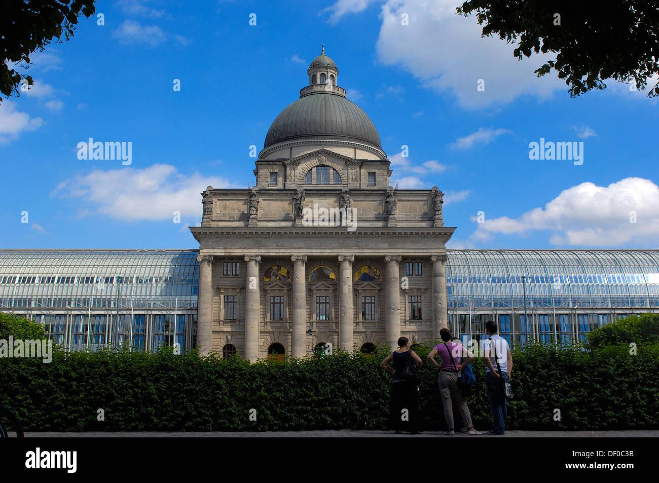 Munich, Bavarian State Chancellery, Bayerische Staatskanzlei, Hofgarten, Bavaria, Germany - Stock Image