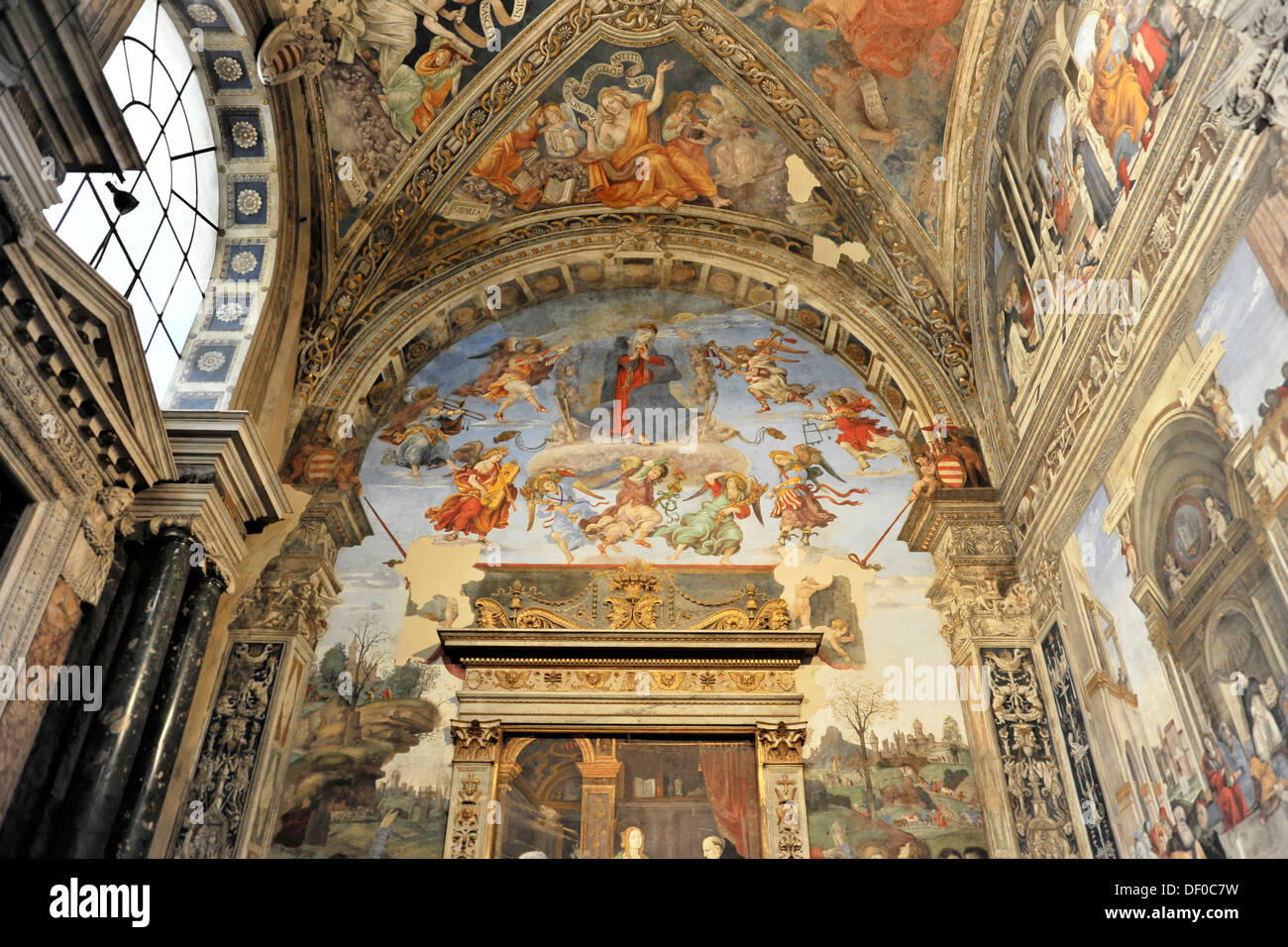 Interior, Basilica of Santa Maria sopra Minerva, Rome, Italy, Europe Stock Photo