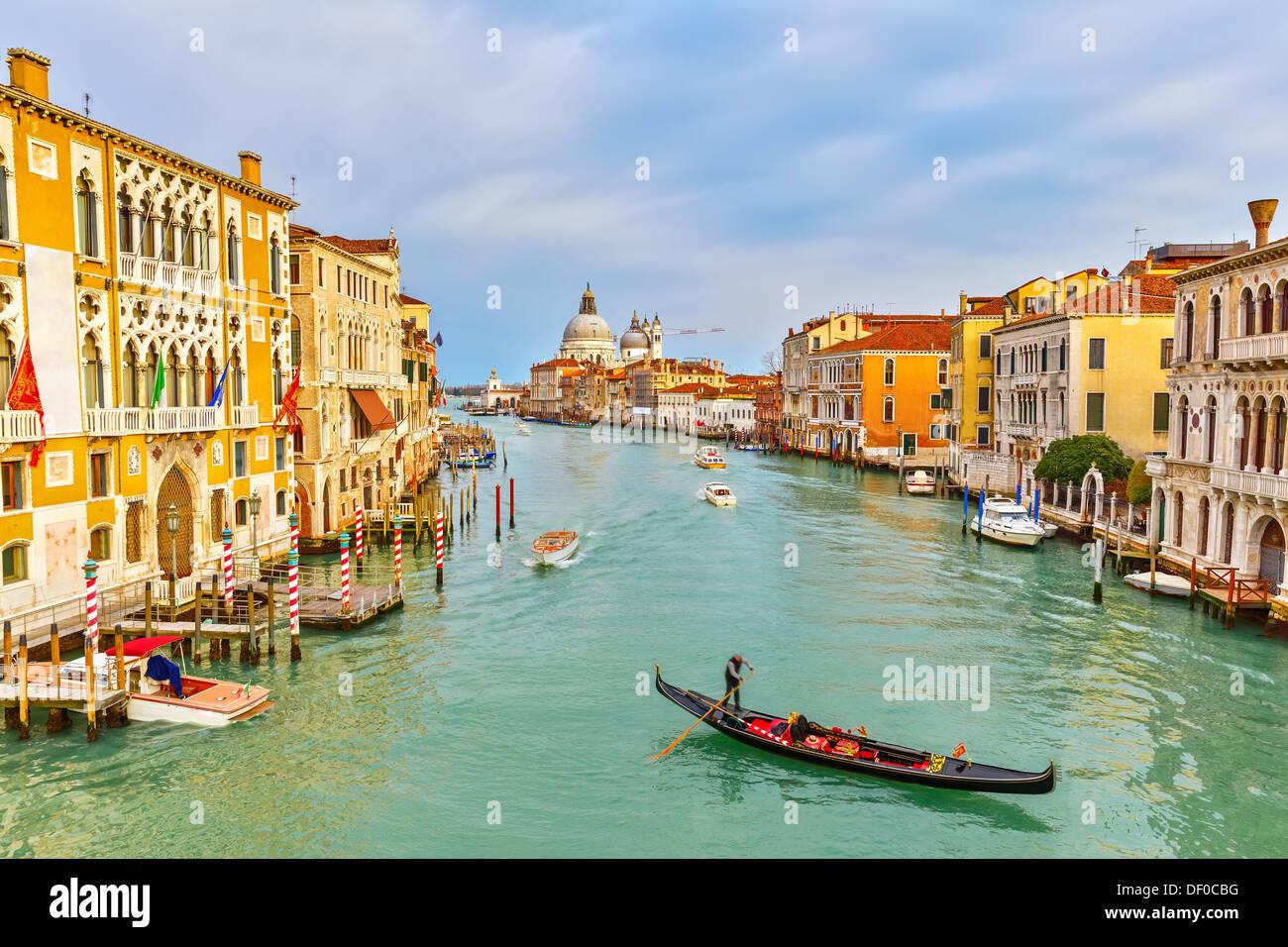 Gondola on Grand Canal - Stock Image