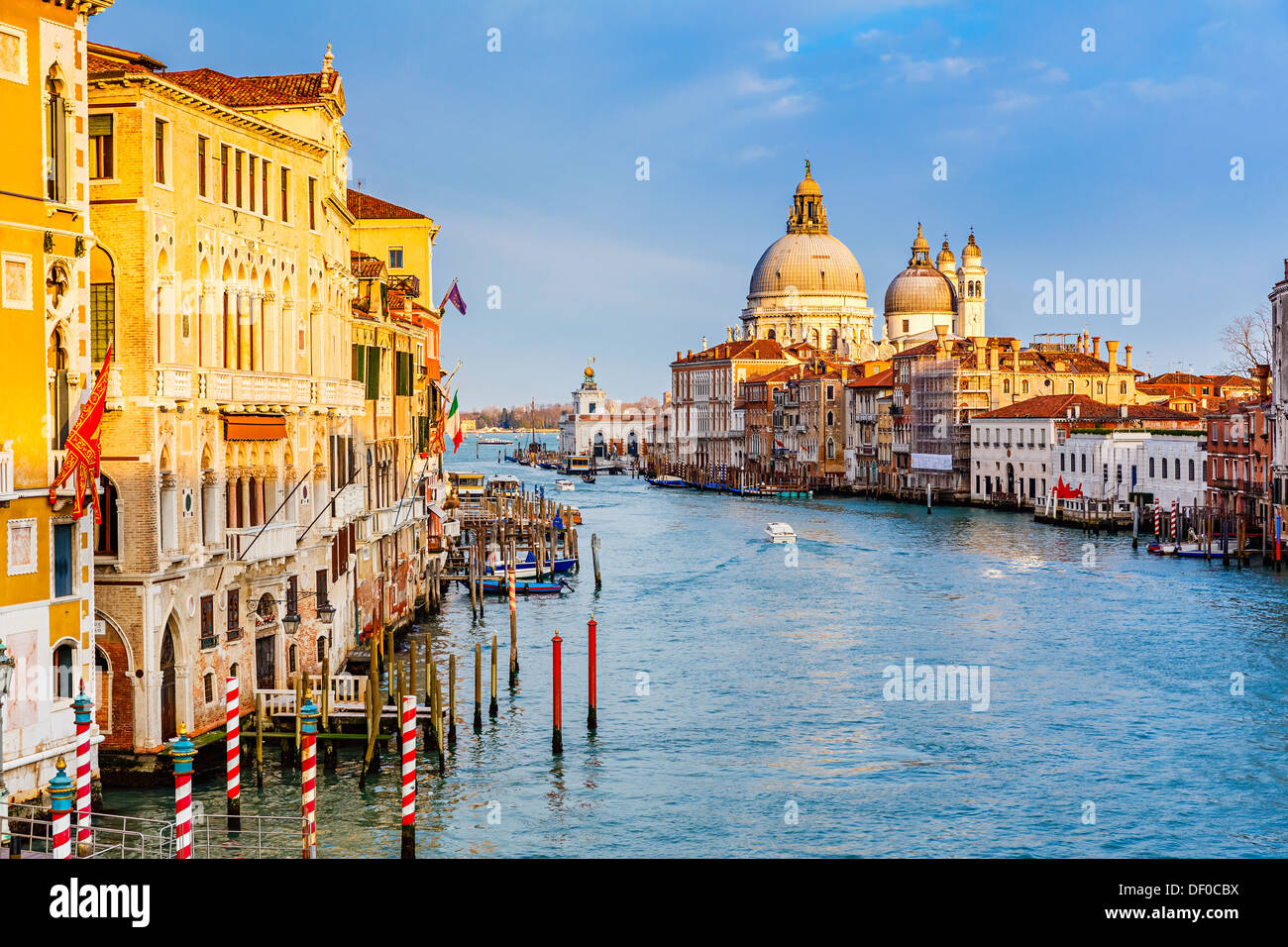 Grand Canal at sunset - Stock Image