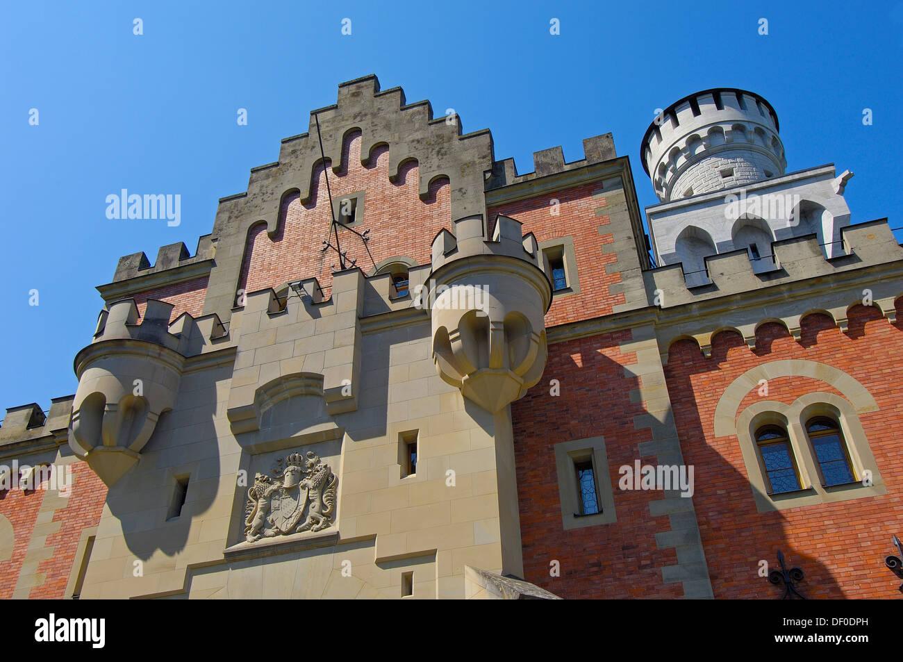 Neuschwanstein Castle; Schloss Neuschwanstein; Allgau; Fussen; Allgaeu; Fuessen; Romantic Road; Romantische Strasse; Bavaria; Ge - Stock Image