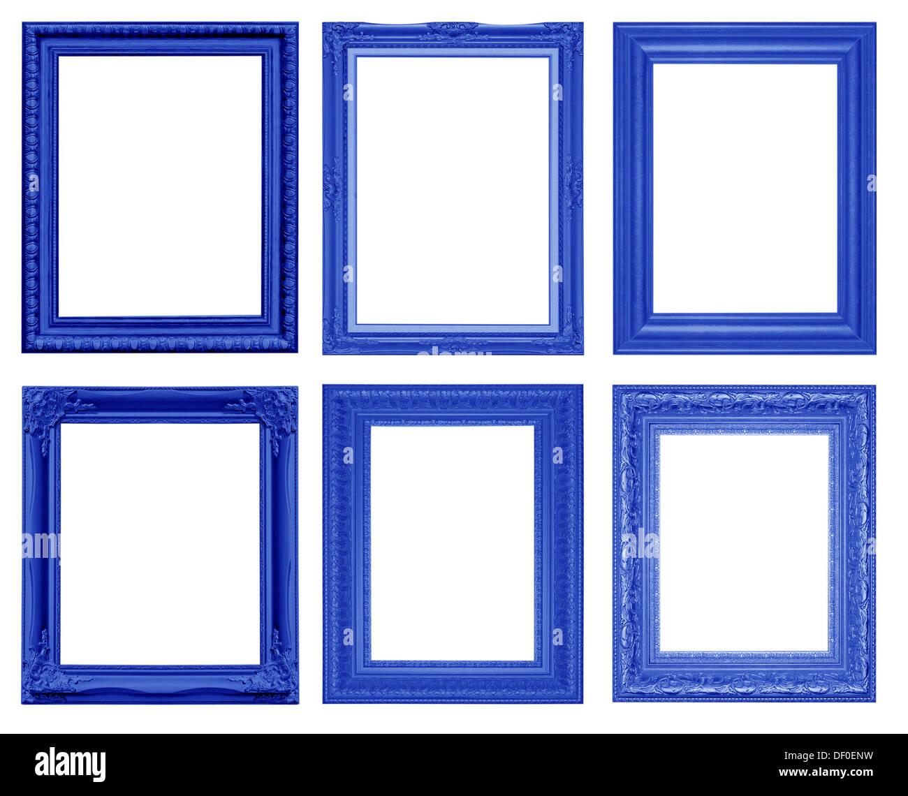 Set of vintage frame isolated on white background - Stock Image