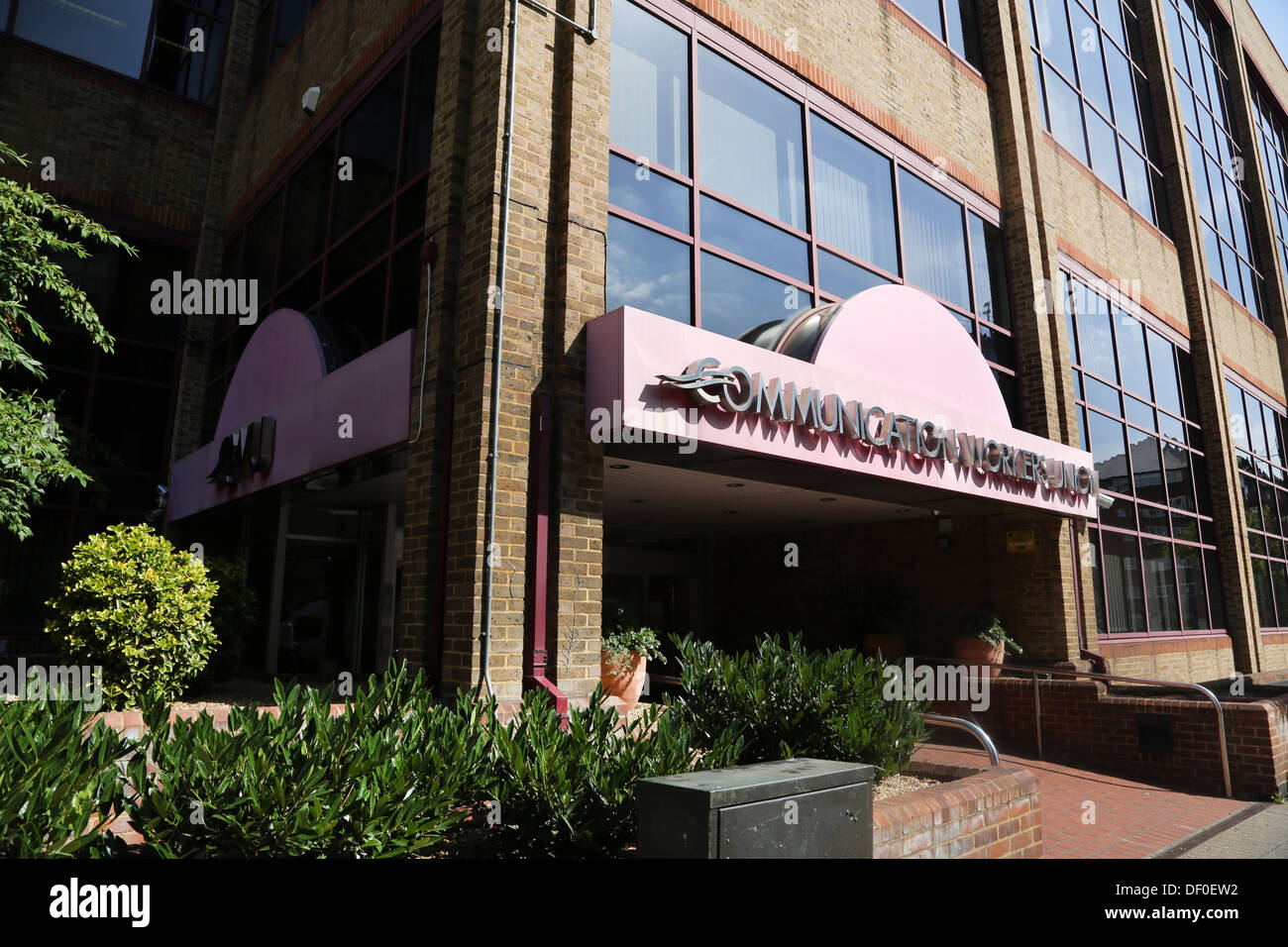 Wimbledon London England The Broadway Communication Workers Union Headquarters Entrance - Stock Image
