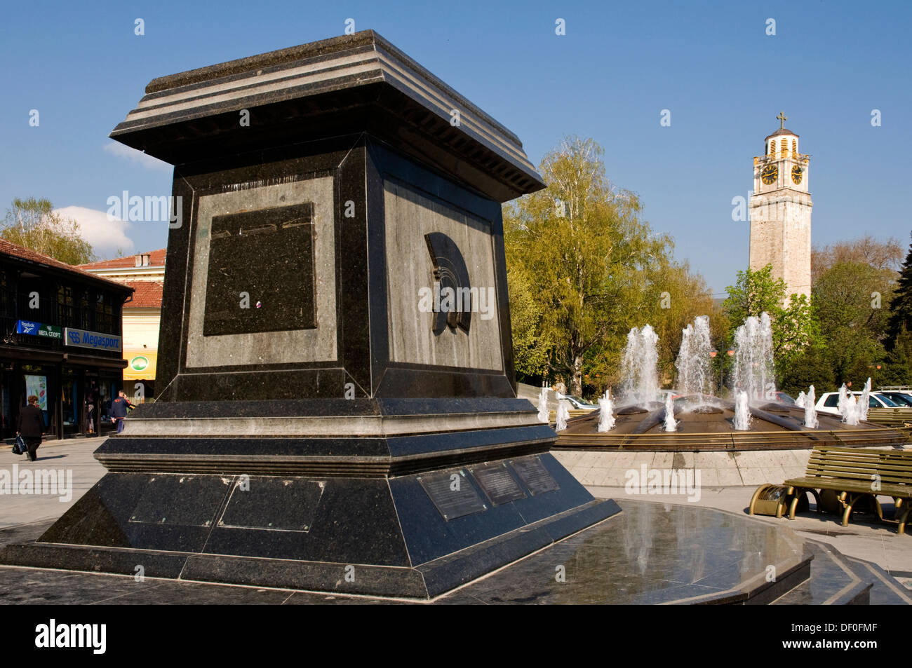 EUROPE, Macedonia, Bitola, monument to Phillip II of Macedonia, father of Alexander the Great, in central square - Stock Image