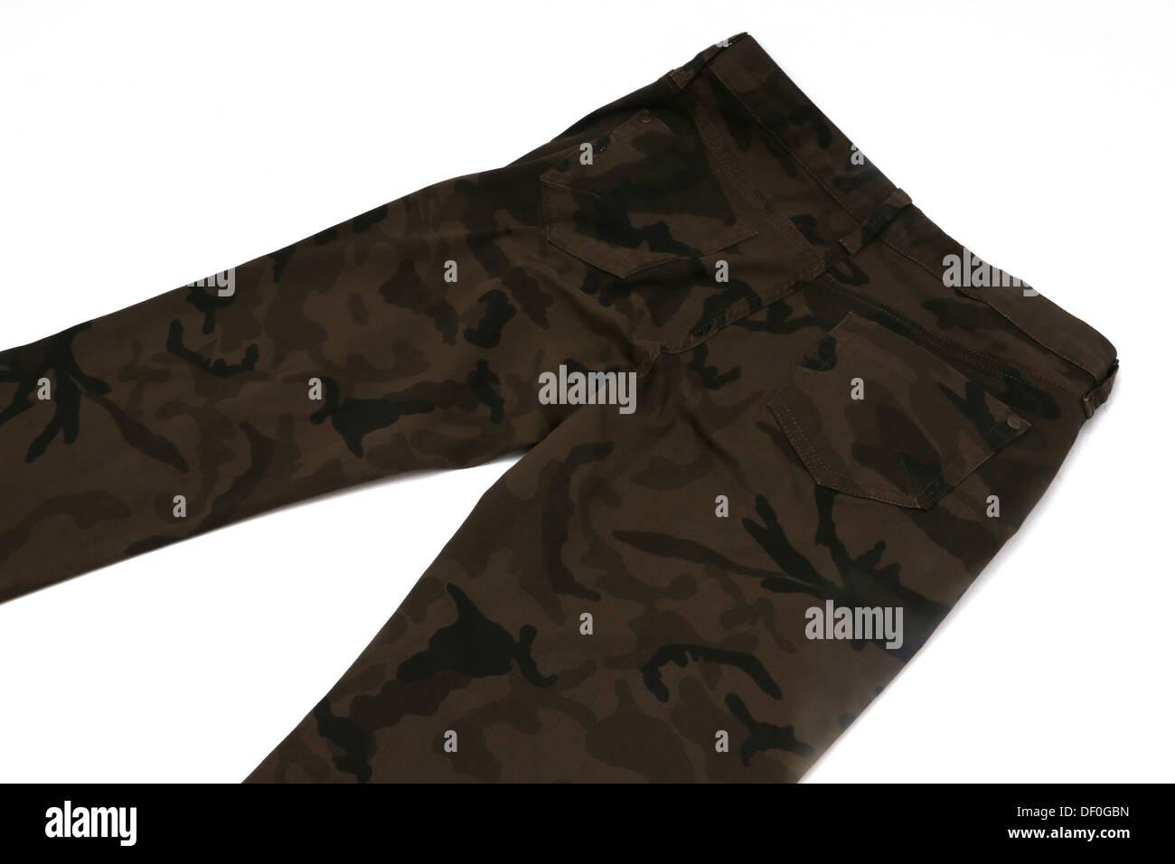 Khaki Trousers - Stock Image