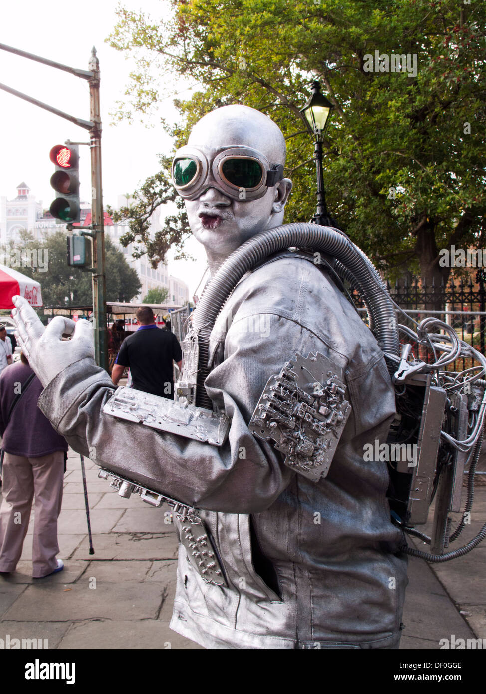 Mime on street in New Orleans Stock Photo