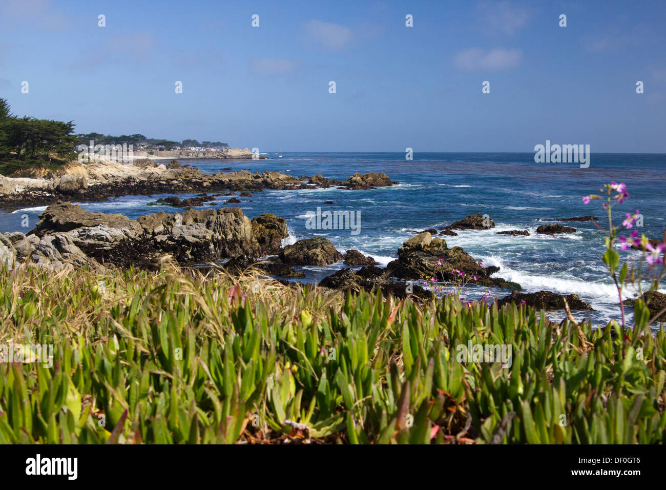 Monterey Bay on Central Coast of California - Stock Image