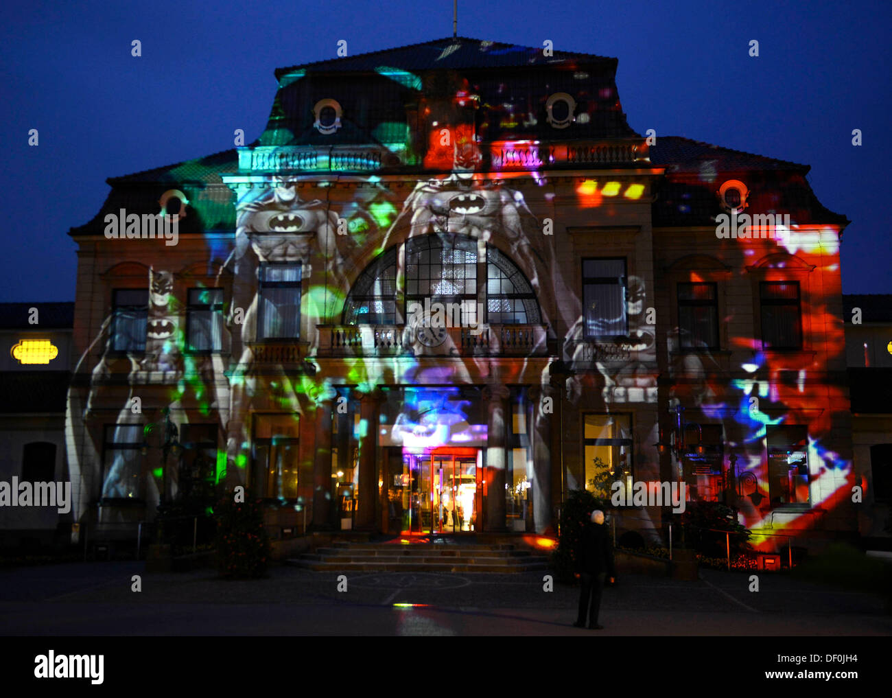 The Light Projection Pinball By Artist Kanjo Take Is On Display In Lichtsicht 4 Biennale Bad Rothenfelde Germany 25 September 2013