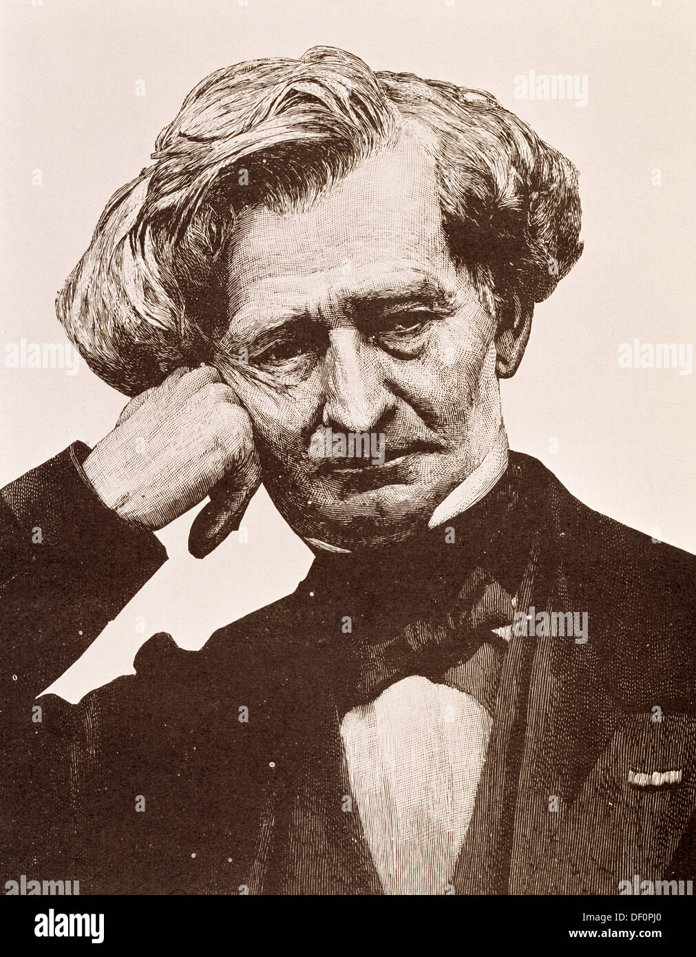 Hector Berlioz (1803-1869), French composer - Stock Image