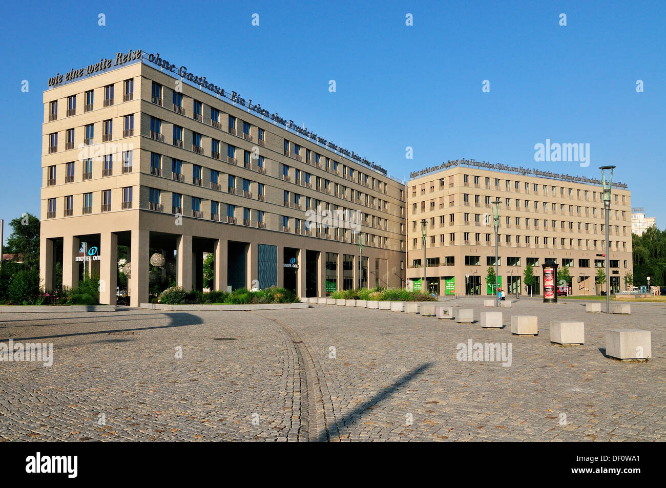 motel one on the postal place, Dresden, motel one am Postplatz - Stock Image