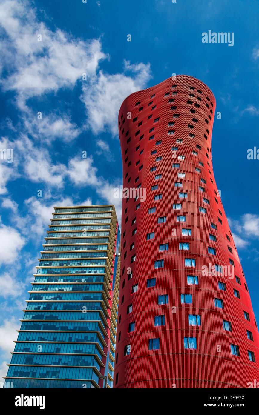 Torre Realia BCN, Hospitalet de Llobregat, Barcelona, Catalonia, Spain - Stock Image