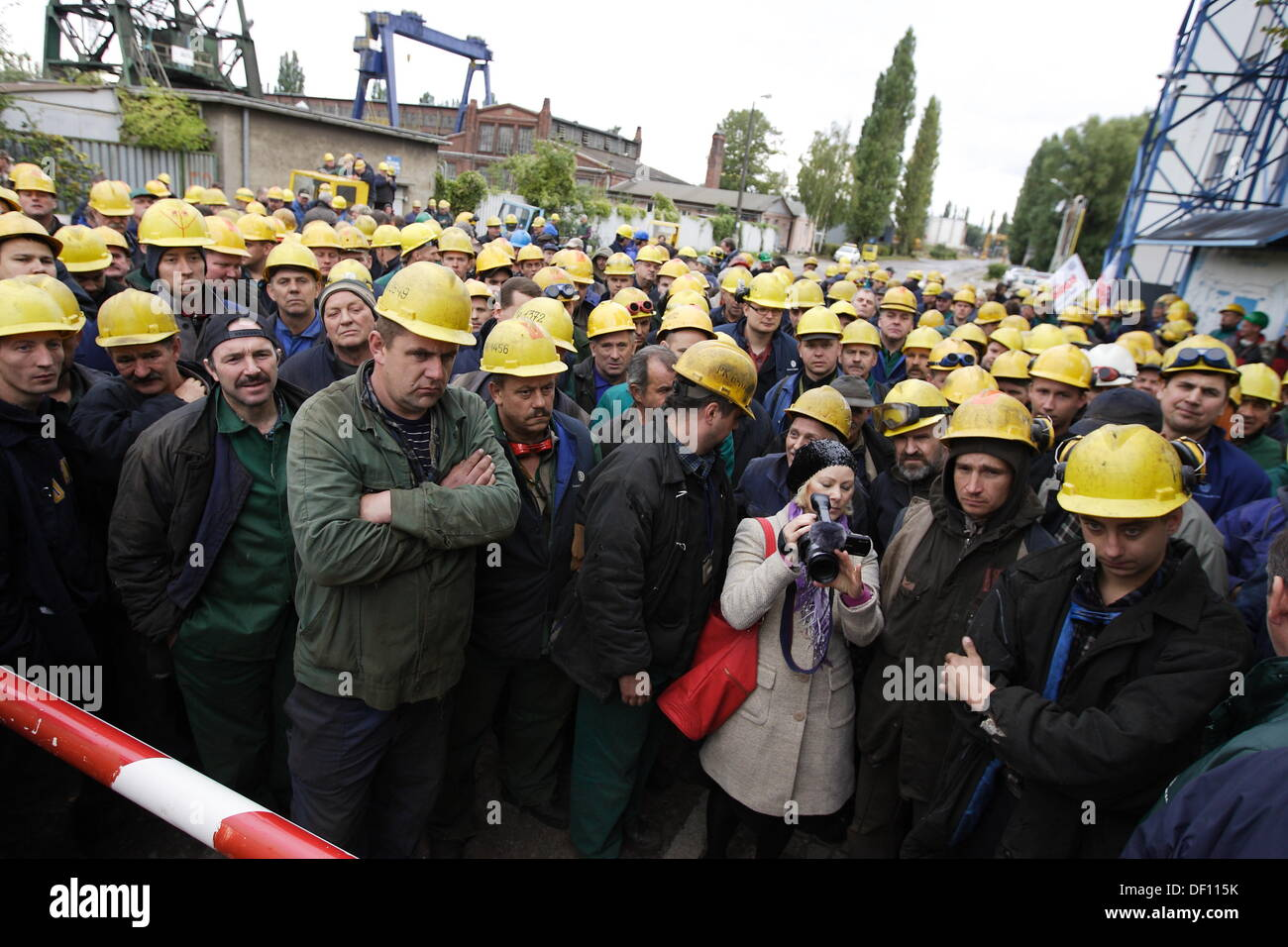 Gdansk, Poland 26th September 2013 Shipyard workers from