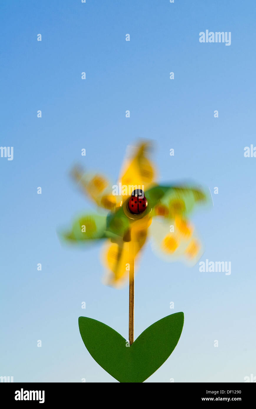 Berlin, Germany, a wind chime, Whirligig, in the form of a flower Stock Photo