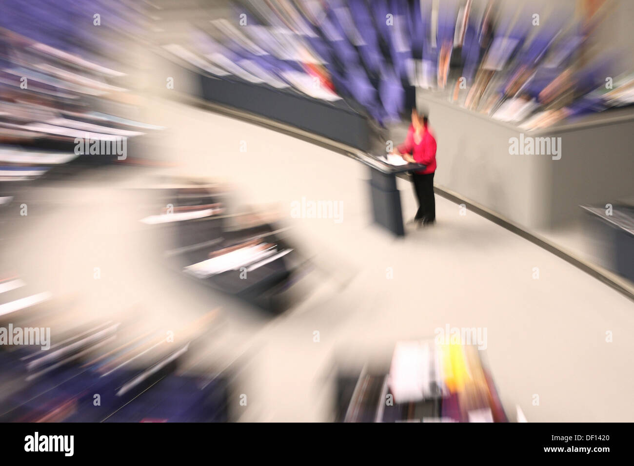 Berlin, Germany, in the plenary session of the German Bundestag - Stock Image