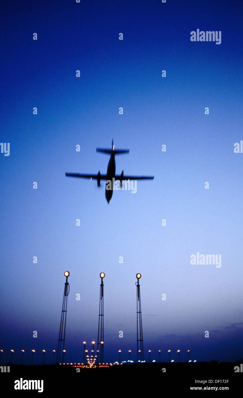Jet Landing - Stock Image