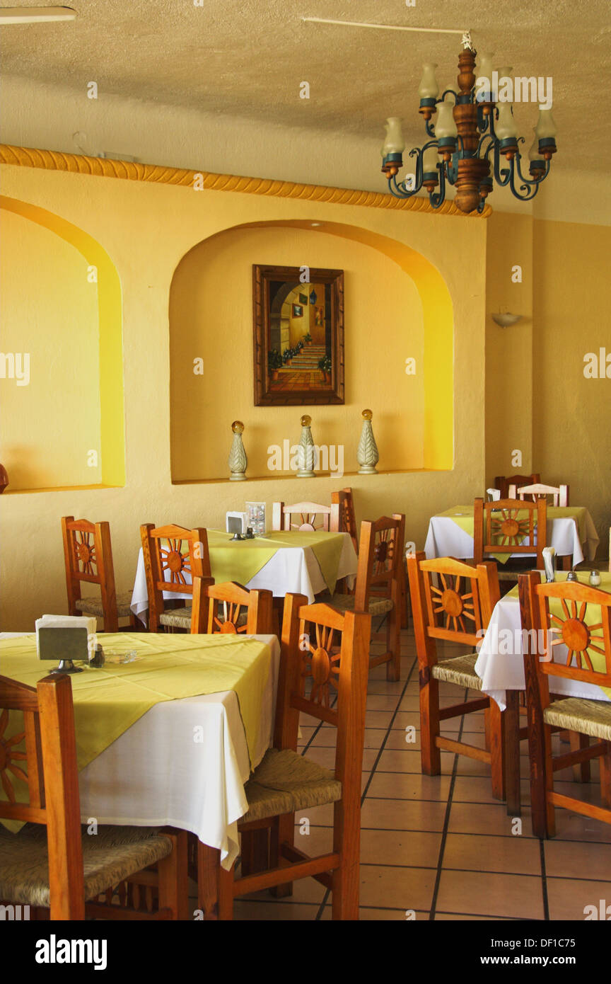 Interior Decor Of A Mexican Restaurant In The Marina District Of