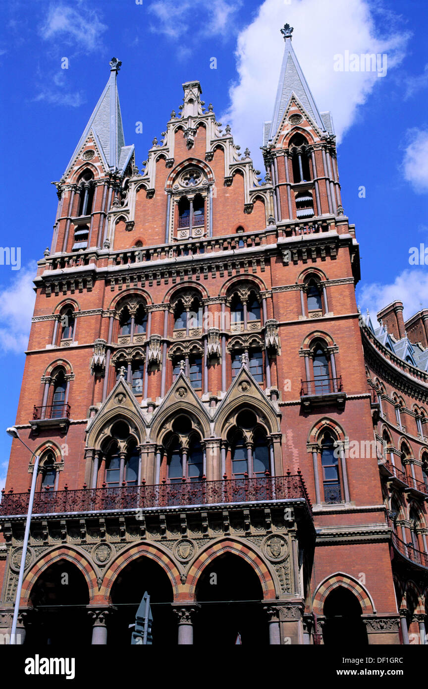 St Pancras Station Victorian Gothic Revival London England