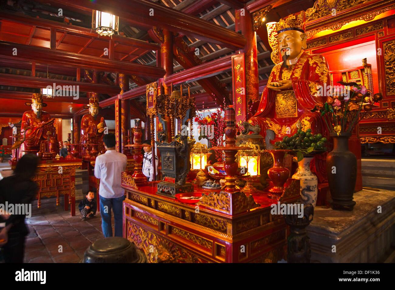 Confucio Temple  Literature Temple. Hanoi. Vietnam. - Stock Image