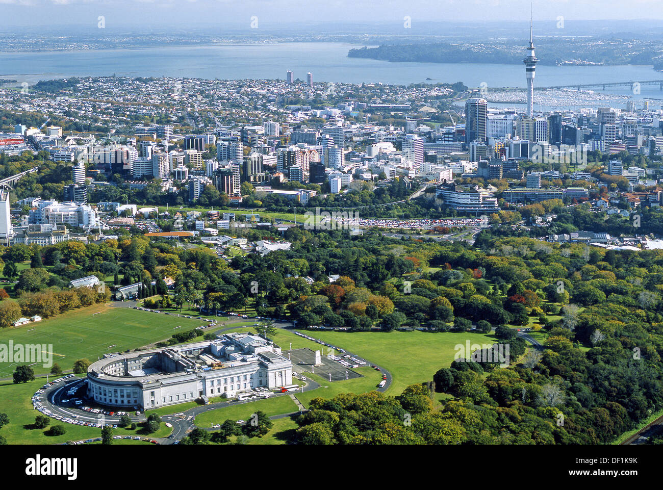 Auckland Domain and Museum New Zealand - Stock Image