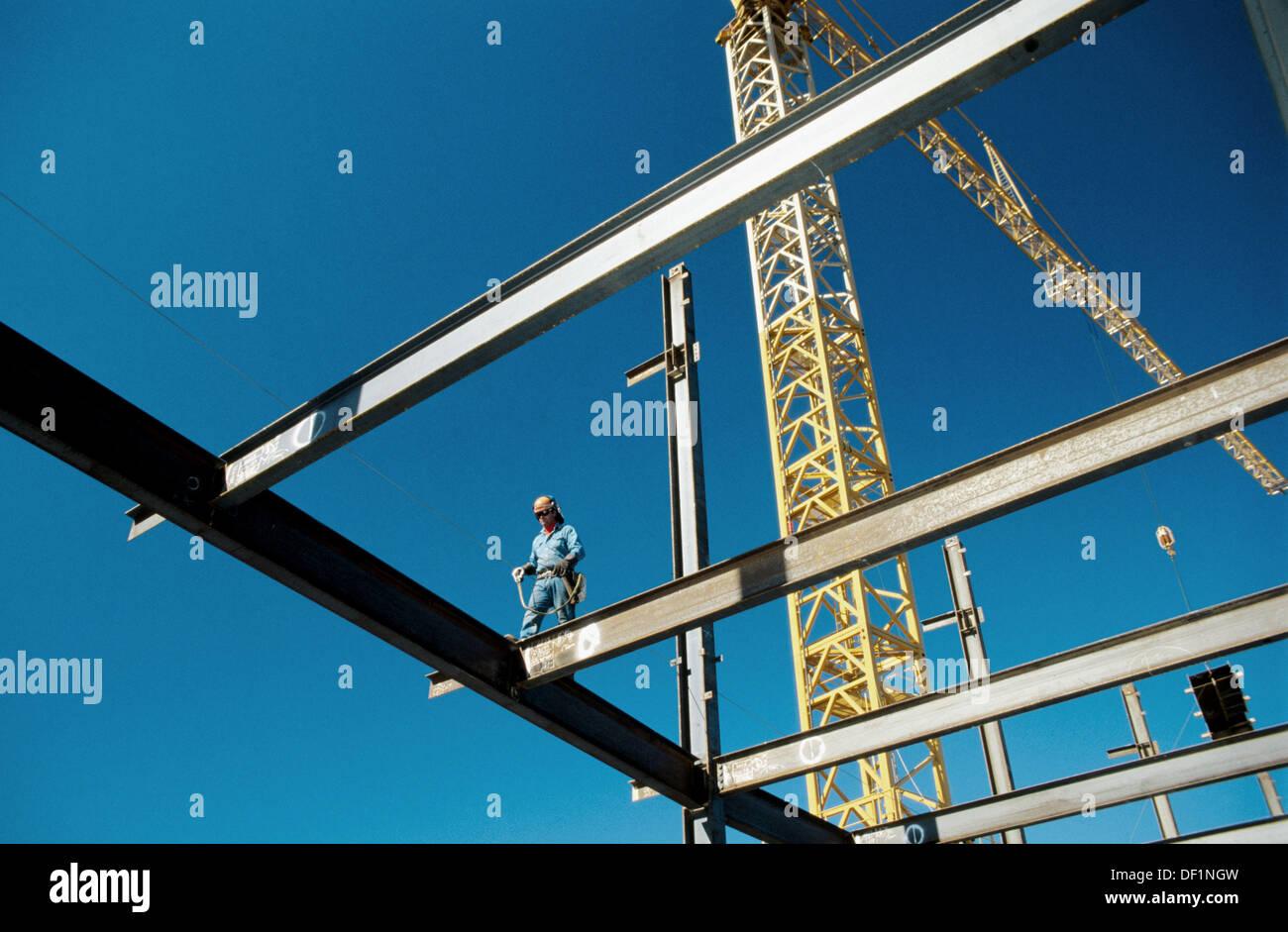 Ironworker walking beam with safety harness  Sacramento