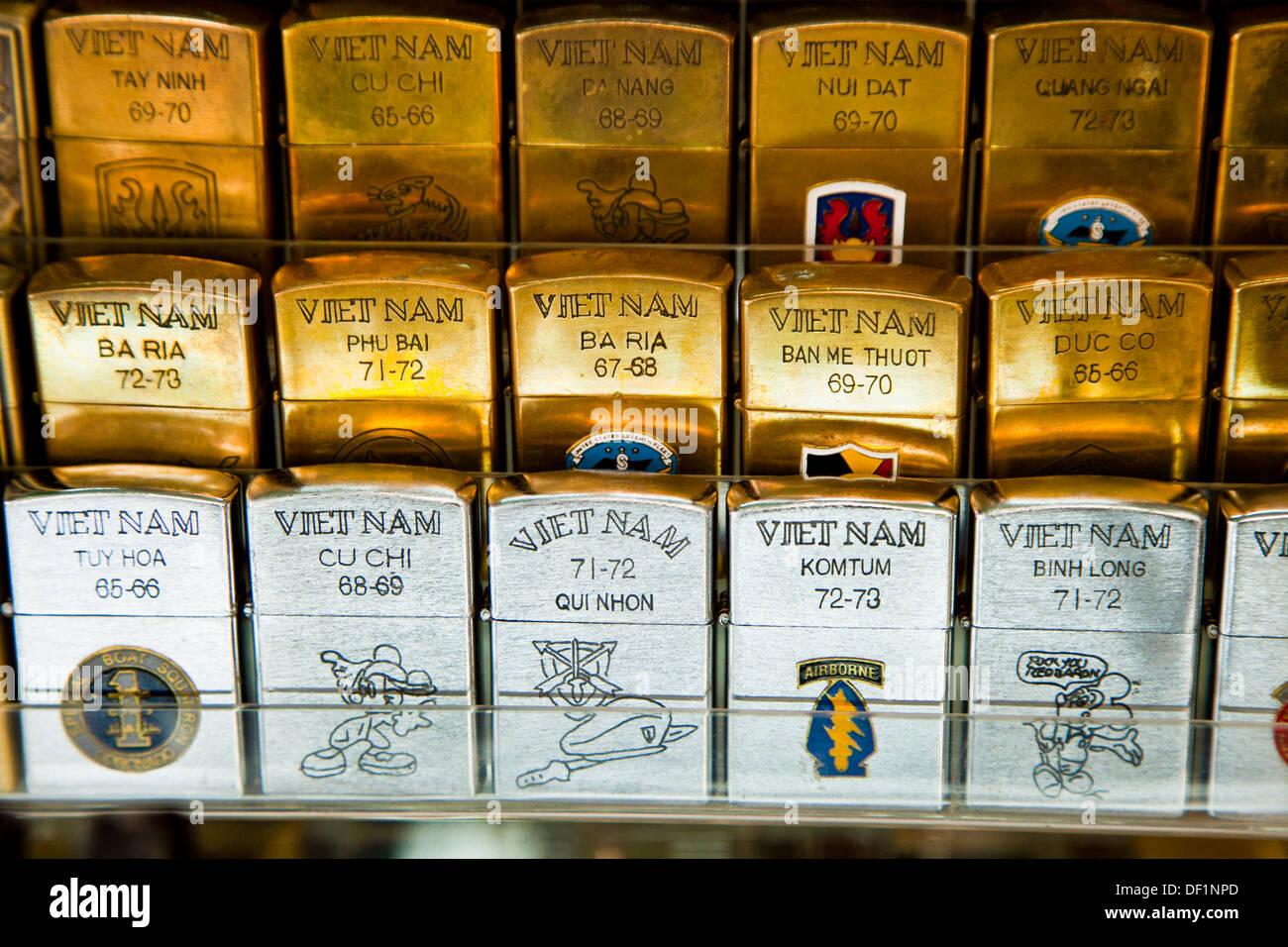 Zippo lighters, Vietnam - Stock Image
