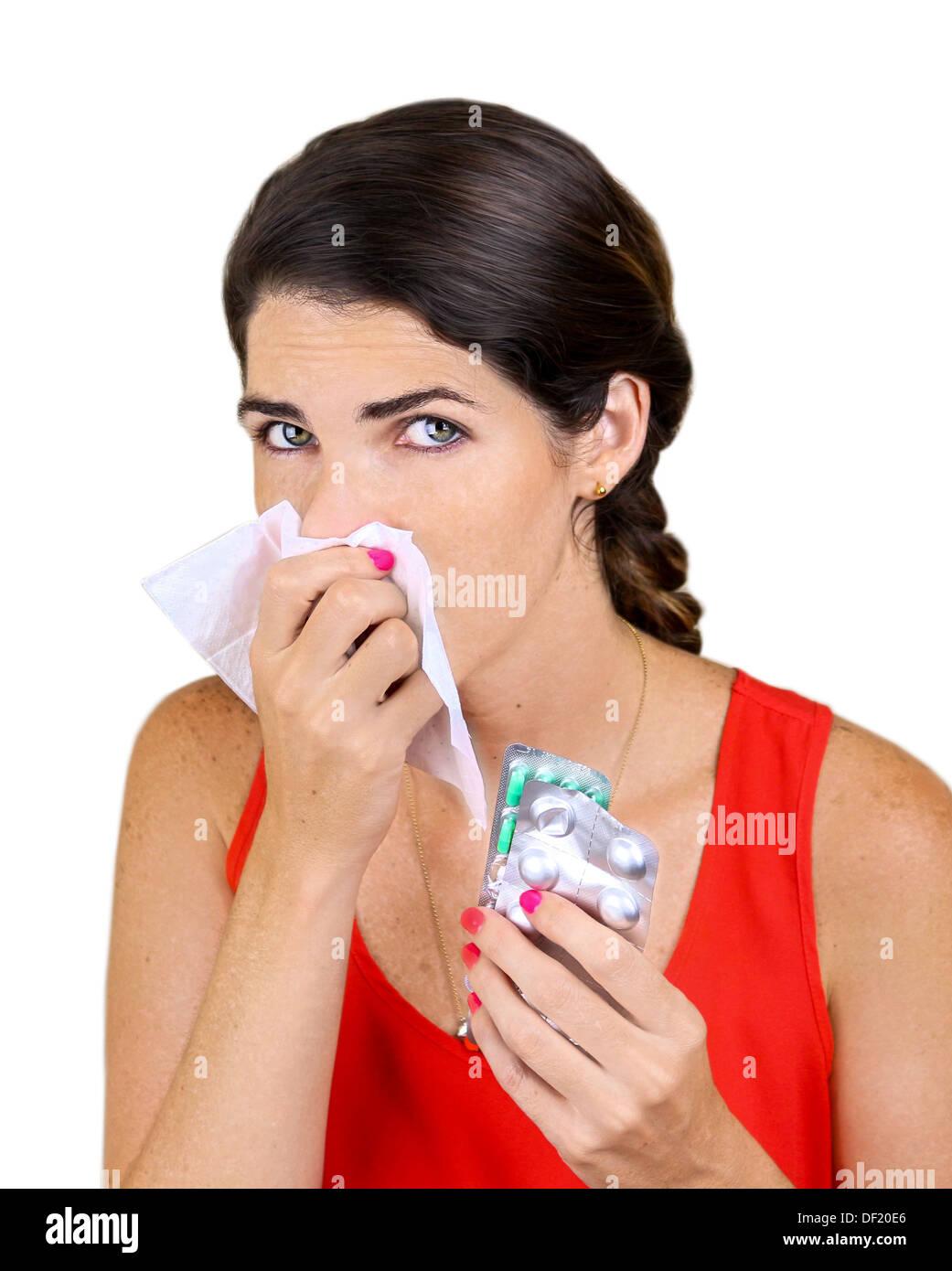 Got the Flu - Stock Image