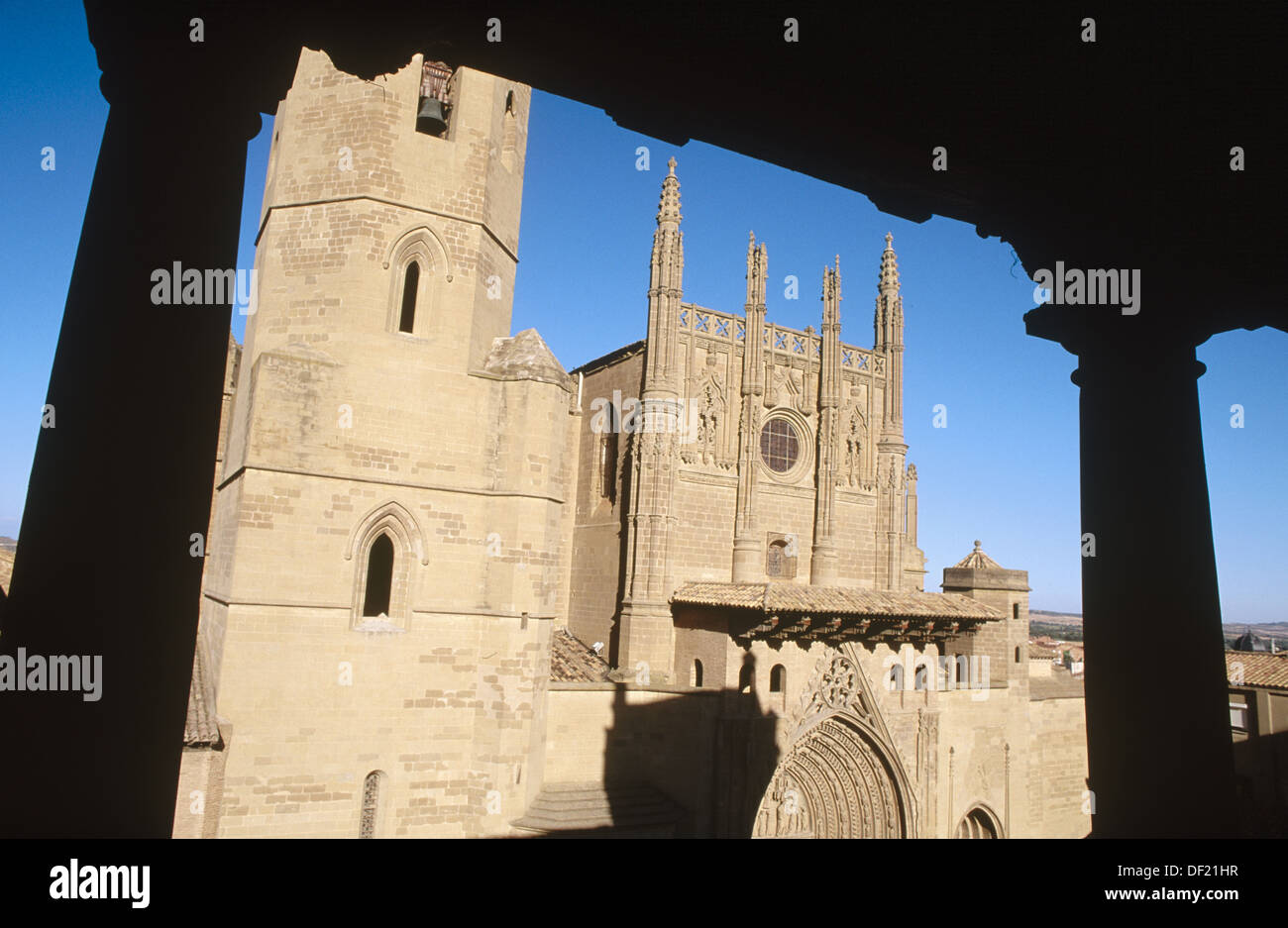 Cathedral. Huesca. Aragon. Spain. - Stock Image