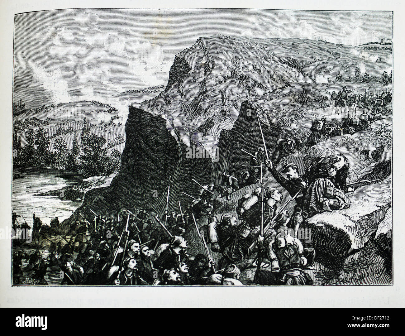 France, History, 19th Century , The Battle of the Alma 20 September 1854, which is usually considered the first battle of the - Stock Image