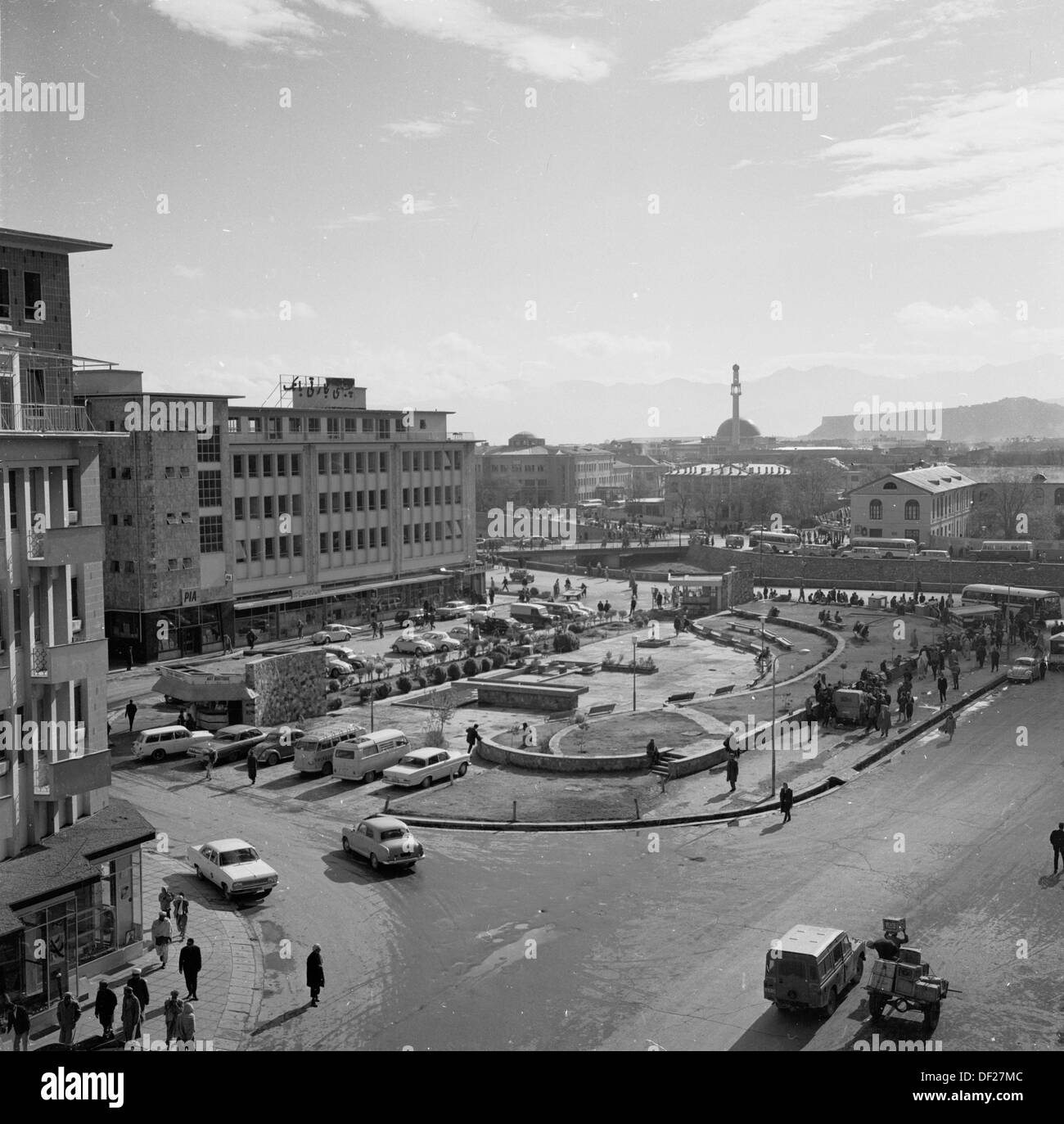 Historical picture from 1950s by J Allan Cash of Kabul, the capital city of Afghanistan - Stock Image