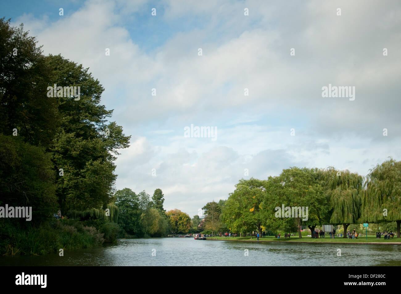 Stratford-upon-Avon river scene - Stock Image