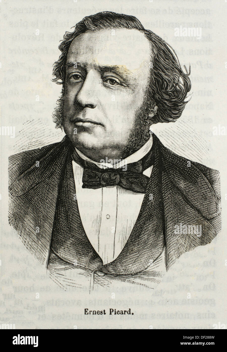 France, History, 19th Century, Louis Joseph Ernest Picard 24 December 1821 - 13 May 1877 was a French politician He was born in - Stock Image