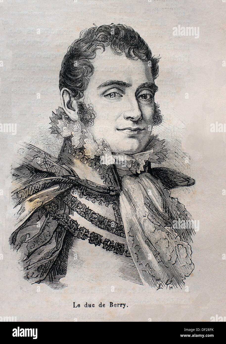 France, History, 19th Century, Duke de Berry: Charles X 9 October 1757 - 6 November 1836 ruled as King of France and of Navarre - Stock Image