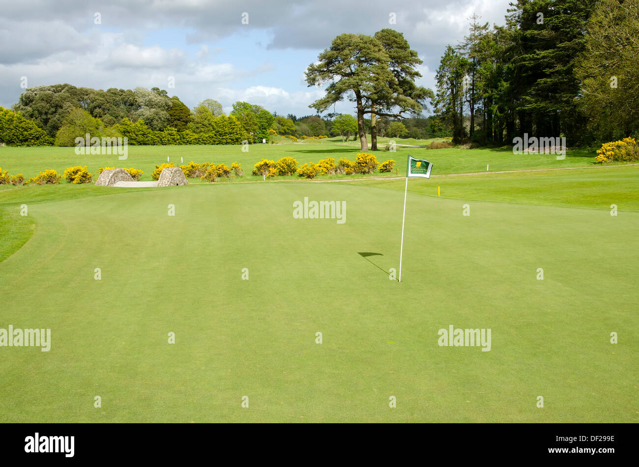 Castlemartyr Resort 18 hole, 6,790 yd, Par 72, inland links style course at County Cork, Ireland. - Stock Image