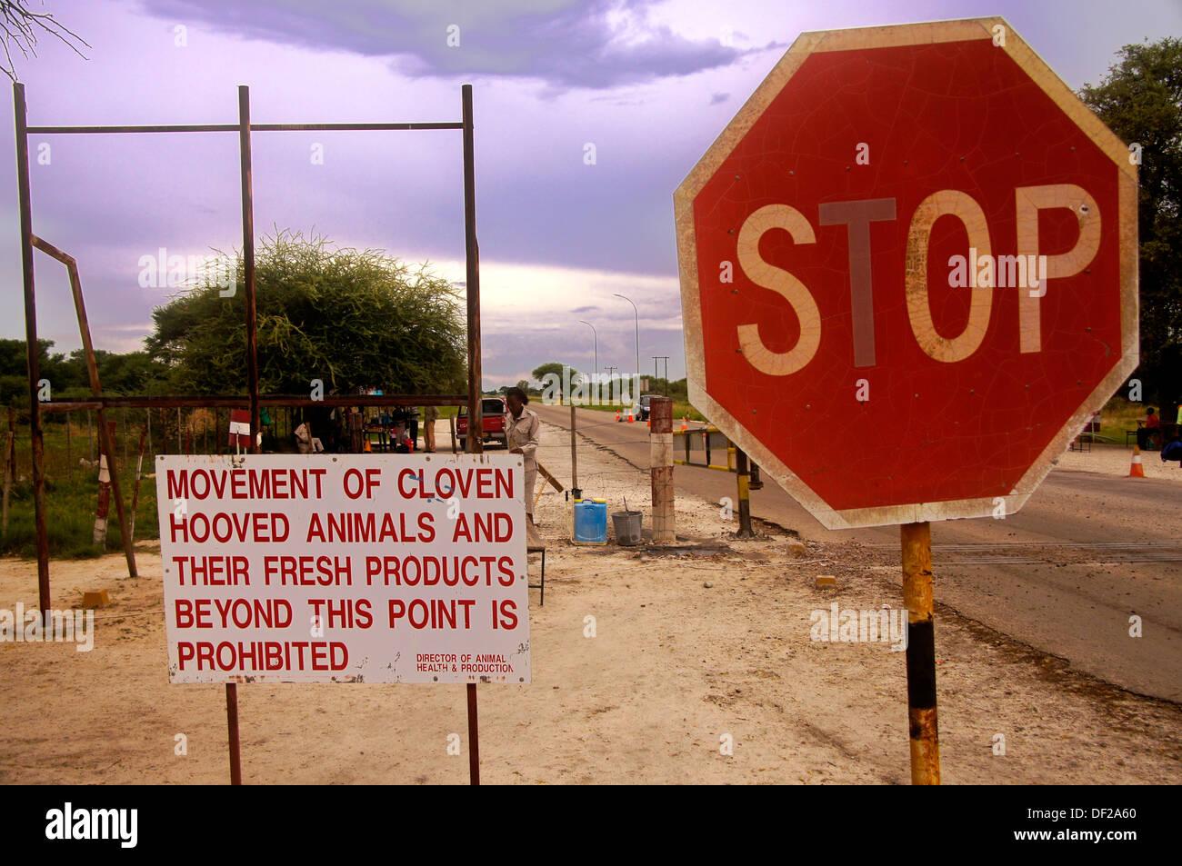 Check point at a Veterinary Cordon Fence, Botswana Stock ...