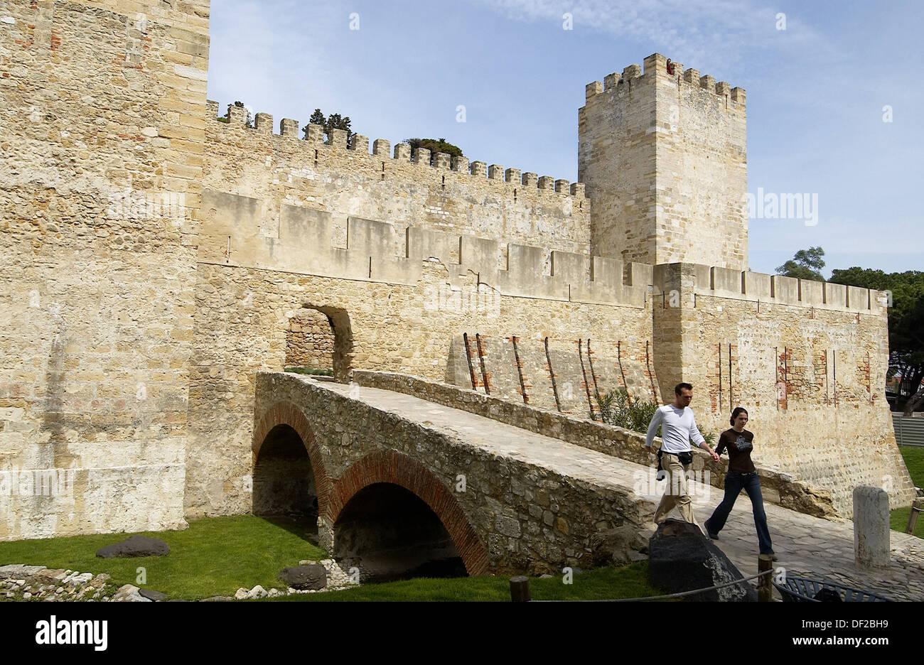 St. George´s Castle. Lisbon, Portugal - Stock Image