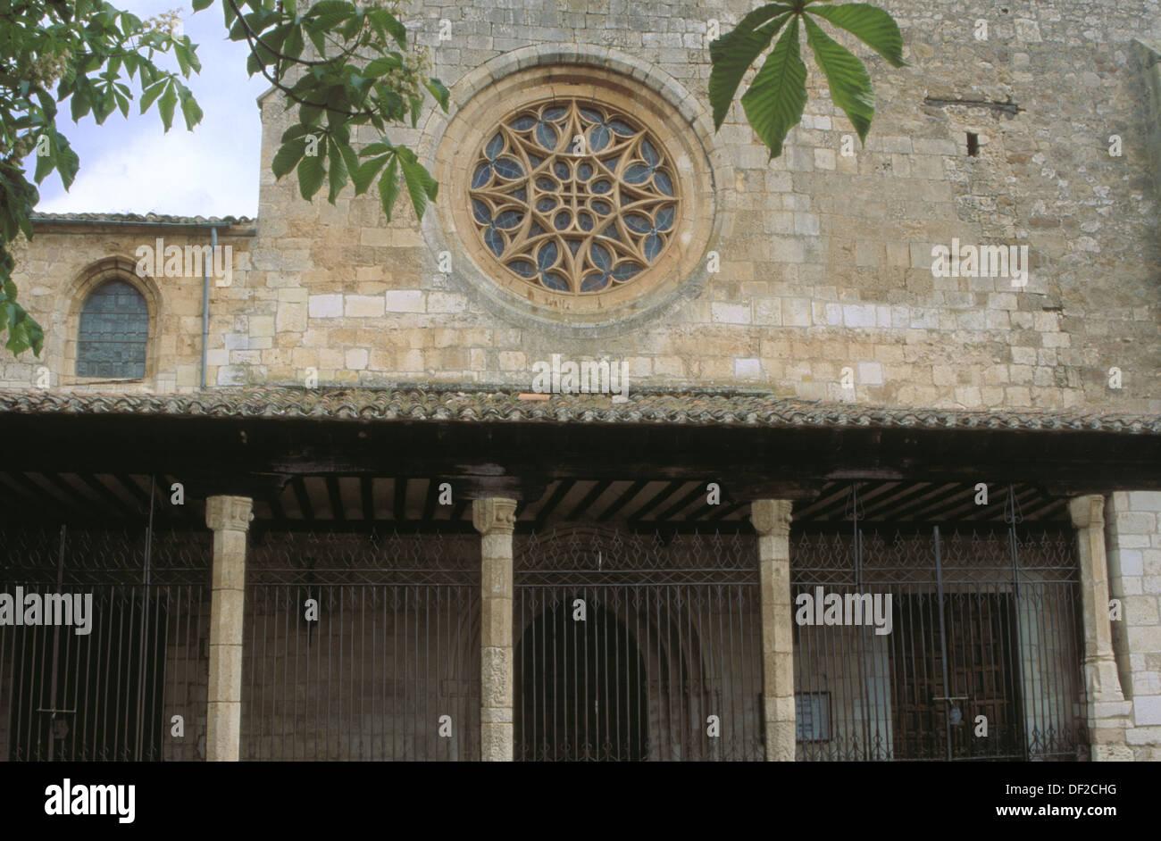 Collegiate church of San Cosme y San Damian (15th Century). Covarrubias. Burgos province. Castilla y Leon. Spain - Stock Image