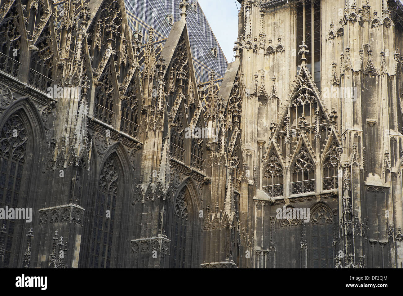 Stephansdom (Cathedral of Saint Stephen), Vienna. Austria - Stock Image